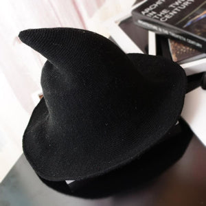 Wool Pointy Witch Hat - Black - Party Hats
