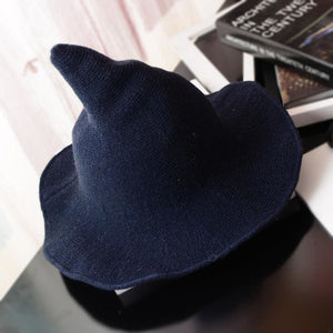 Wool Pointy Witch Hat - Deep Blue - Party Hats