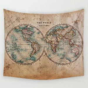World Map Tapestry - 1 / 150x130cm - Tapestry