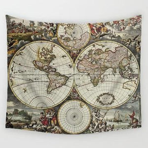 World Map Tapestry - 3 / 150x130cm - Tapestry