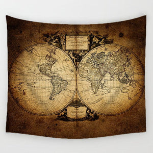 World Map Tapestry - Tapestry