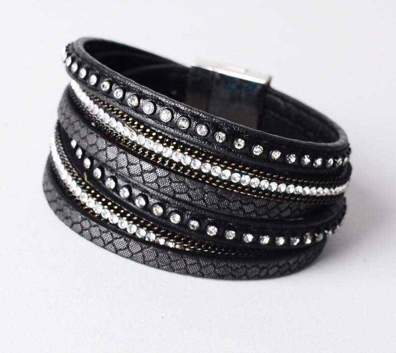 Wrap Leather Bracelet - black - Wrap Bracelets