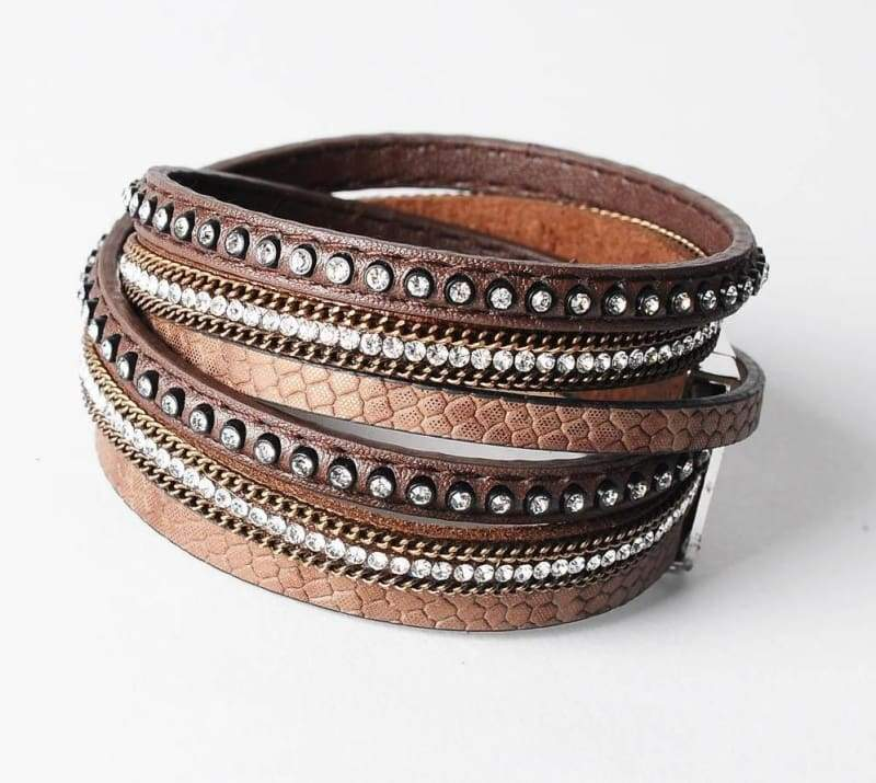 Wrap Leather Bracelet - brown - Wrap Bracelets