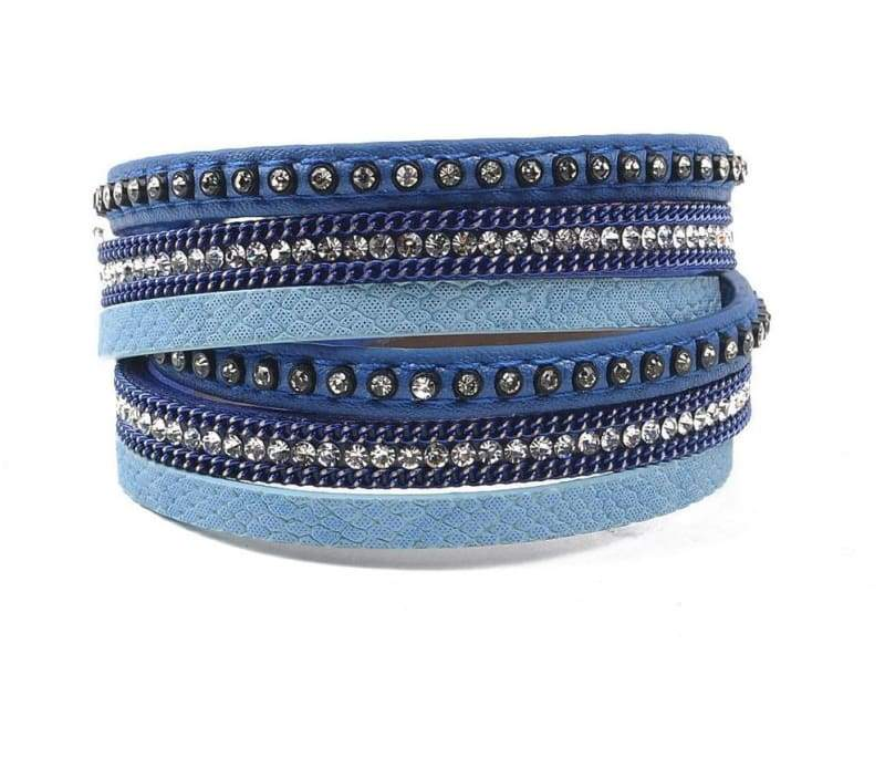 Wrap Leather Bracelet - dark blue - Wrap Bracelets