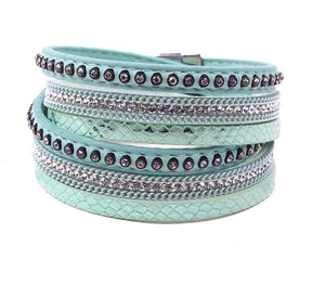 Wrap Leather Bracelet - green - Wrap Bracelets