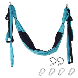 Yoga Hammock Anti-gravity Swing Parachute - blue black - Gym Fitness