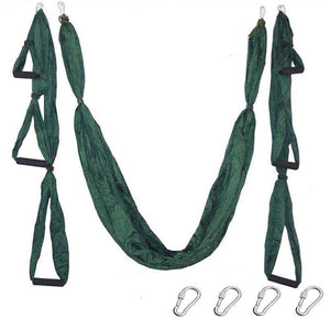 Yoga Hammock Anti-gravity Swing Parachute - Dark green - Gym Fitness