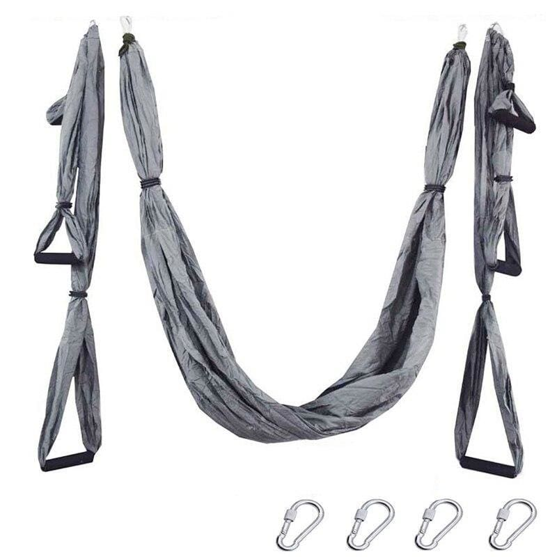 Yoga Hammock Anti-gravity Swing Parachute - Gray - Gym Fitness