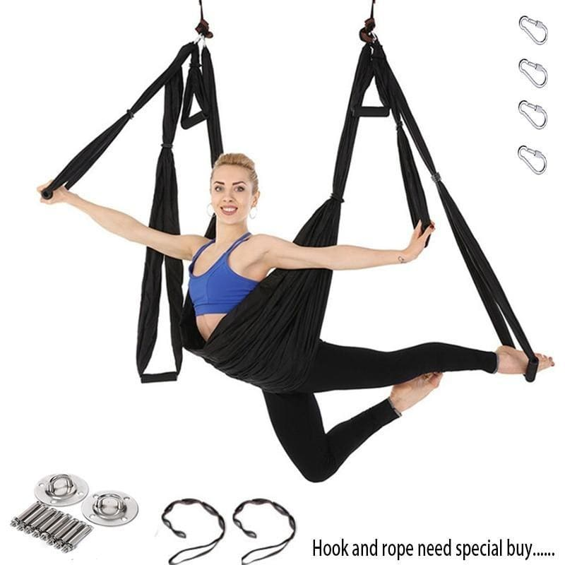 Yoga Hammock Anti-gravity Swing Parachute - Gym Fitness