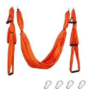 Yoga Hammock Anti-gravity Swing Parachute - Orange - Gym Fitness
