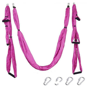 Yoga Hammock Anti-gravity Swing Parachute - Pink - Gym Fitness