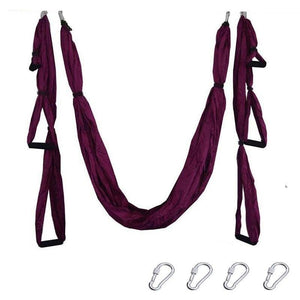 Yoga Hammock Anti-gravity Swing Parachute - Purple - Gym Fitness