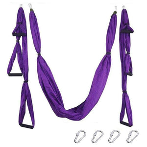 Yoga Hammock Anti-gravity Swing Parachute - violet - Gym Fitness