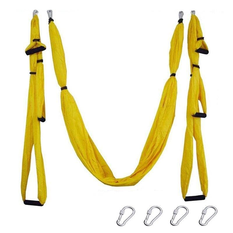 Yoga Hammock Anti-gravity Swing Parachute - Yellow - Gym Fitness