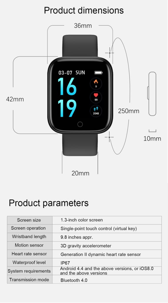 Smartwatch Waterproof Smart Watch Fitness Tracker Just For You