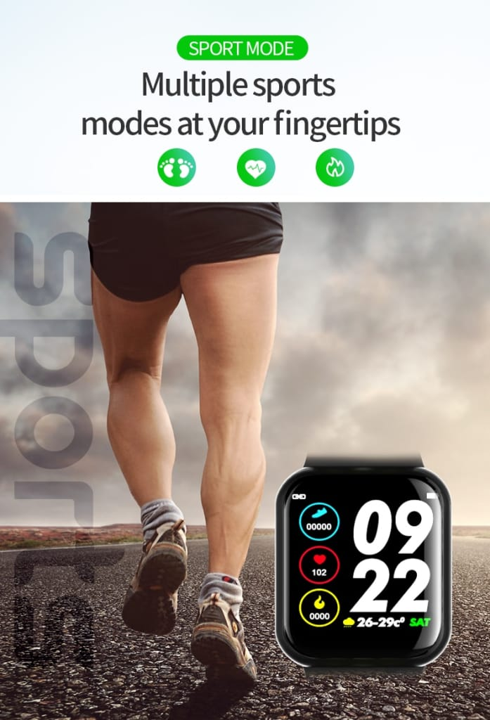 Smart Watch Fitness Tracker Heart Rate Monitor Bracelet