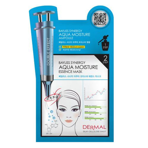 DERMAL BAYLISS SYNERGY 2 STEP MASK - AQUA MOISTURE - 1 BOX (5 sheets) - Dermal Australia