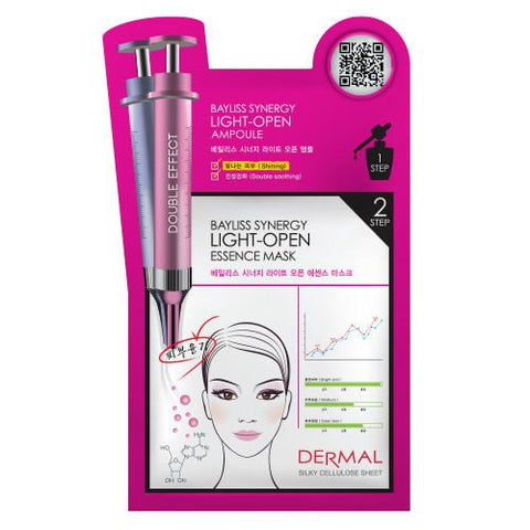 DERMAL BAYLISS SYNERGY 2 STEP MASK - LIGHT OPEN - 1 BOX (5 sheets) - Dermal Australia