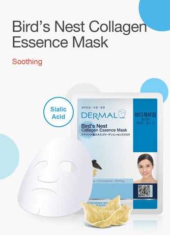 DERMAL COLLAGEN ESSENCE MASK PACK  - Bird's Nest - Dermal Australia