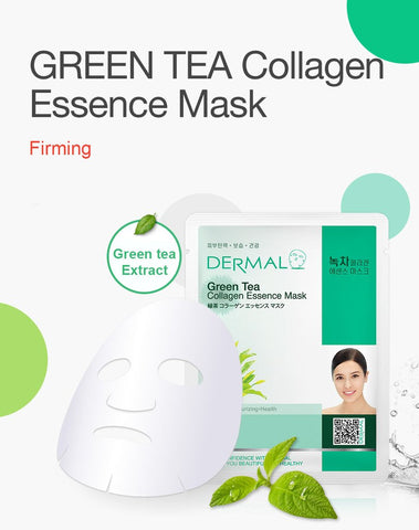 DERMAL COLLAGEN ESSENCE MASK PACK  - Green Tea - Dermal Australia
