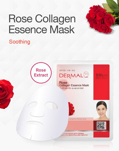 DERMAL COLLAGEN ESSENCE MASK PACK  - Rose - Dermal Australia