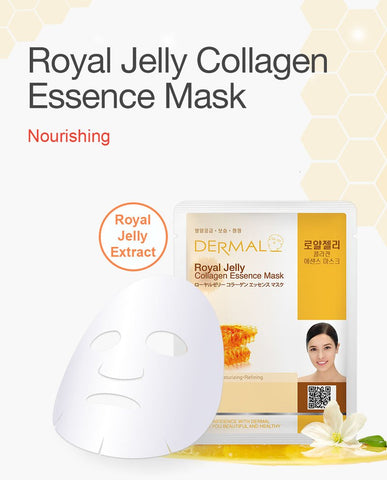DERMAL COLLAGEN ESSENCE MASK PACK  - Royal Jelly - Dermal Australia