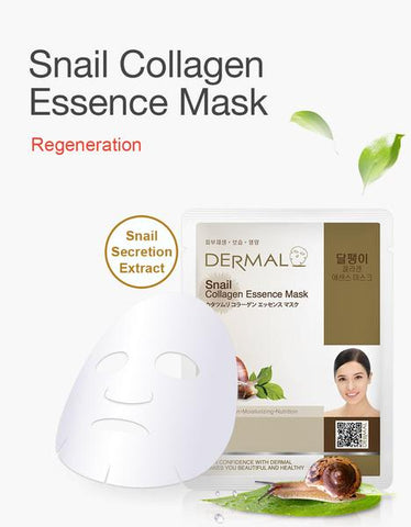 DERMAL COLLAGEN ESSENCE MASK PACK  - Snail - Dermal Australia