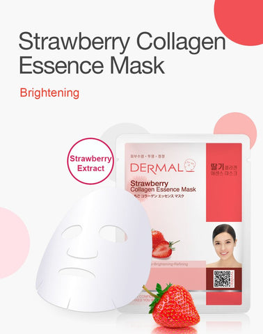 DERMAL COLLAGEN ESSENCE MASK PACK  - Strawberry - Dermal Australia