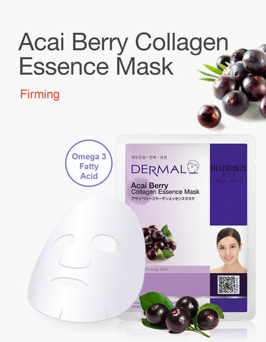 DERMAL COLLAGEN ESSENCE MASK PACK  - Acai Berry - Dermal Australia