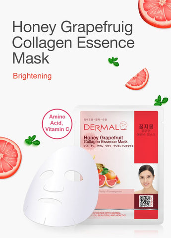 DERMAL COLLAGEN ESSENCE MASK PACK  - Honey Grapefruit - Dermal Australia