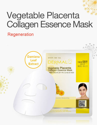 DERMAL COLLAGEN ESSENCE MASK PACK  - Vegetable Placenta - Dermal Australia