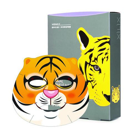 TIGER ANIMAL WRINKLE CARE MASK - 10 sheets - Dermal Australia