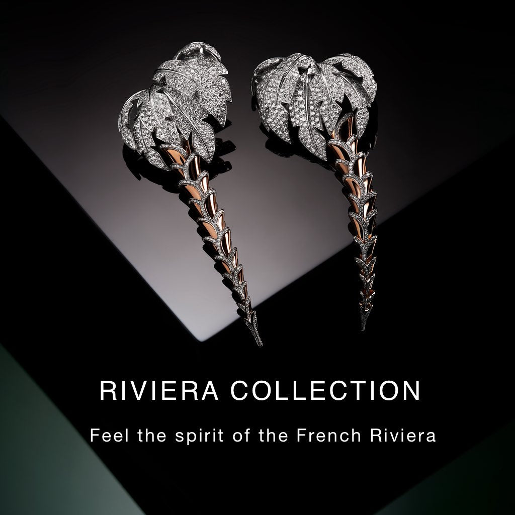 ORLOV riviera collection palm earrings