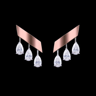 ORLOV SIMPLICITY earrings set with diamonds