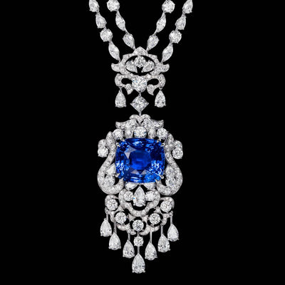 CLASSIC BLUE SAPPHIRE MASTERPIECE NECKLACE