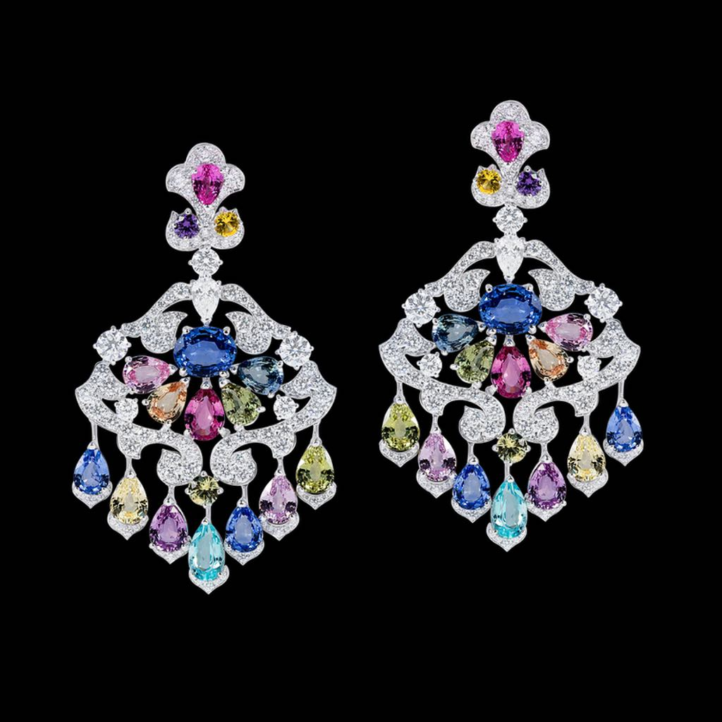 CLASSIC MULTI COLOR SAPPHIRE EARRINGS