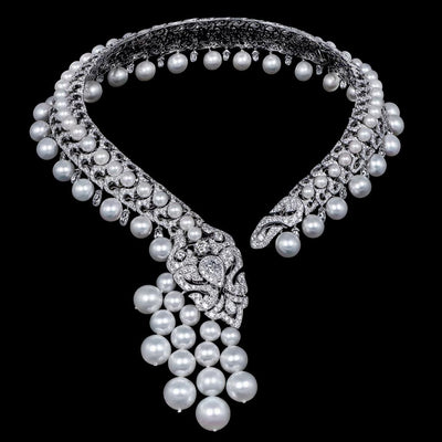 SERPENTES PEARL DIAMOND NECKLACE