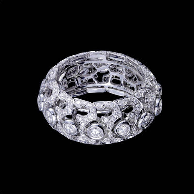 SERPENTES DIAMOND RING WHITE GOLD