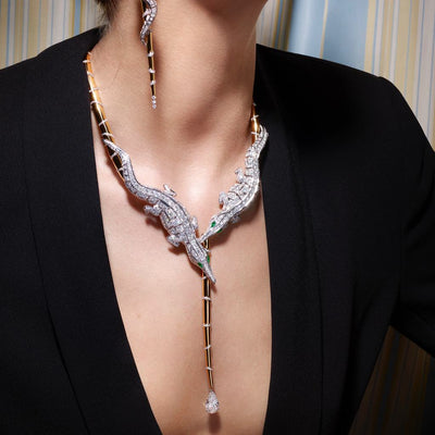 CROCO DREAM CROCODILE DIAMOND NECKLACE