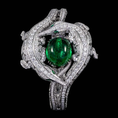 CROCO DREAM CROCODILE DIAMOND EMERALD CUFF