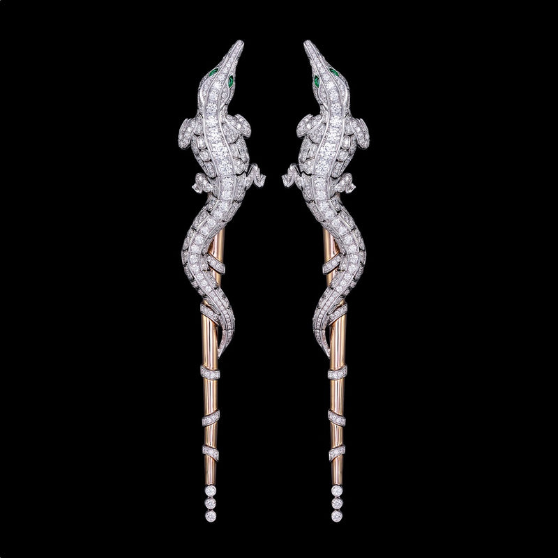 CROCO DREAM CROCODILE DIAMOND EARRINGS