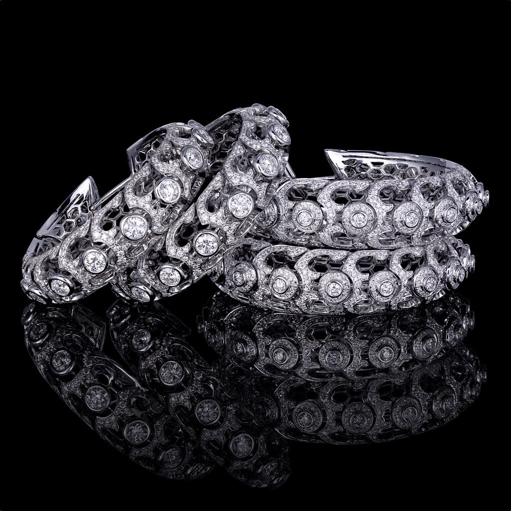 ORLOV SERPENTES HOOPS set white diamonds