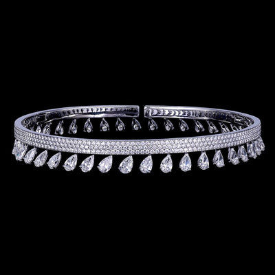 SIMPLICITY DIAMOND CHOKER WHITE GOLD