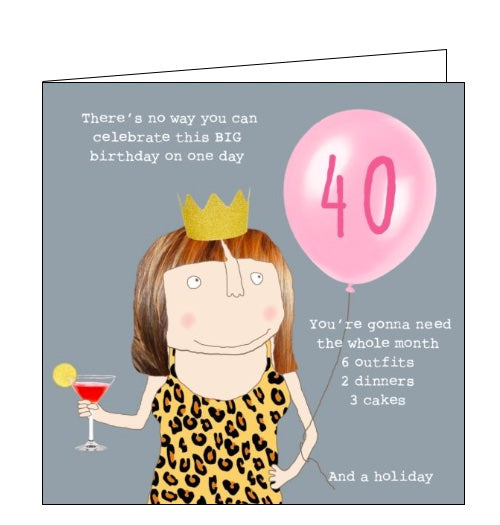 40th Birthday cards