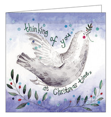 Alex Clark thinking of you dove of peace christmas card Nickery Nook