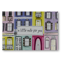 Jessica Hogarth a little note to say, houses, town houses, balconies, French, European greetings card at Nickery Nook