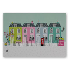 Jessica Hogarth Portabello Market Notting Hill blank greetings card at Nickery Nook