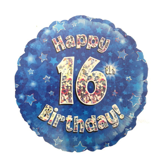 16th Birthday Helium Balloons - Various Designs