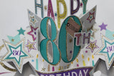 Second Nature 80th Birthday pop up card Nickery Nook