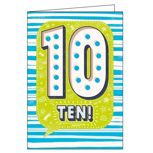 Abacus 10 today happy 10th birthday card